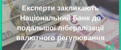 Експерти закликають Національний Банк до подальшої лібералізації валютного регулювання